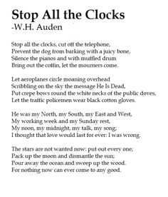 stop all the clocks | Tumblr