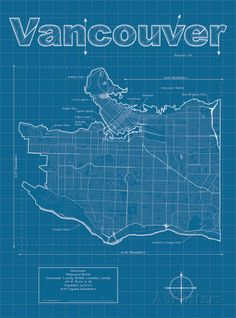 The 102 best maps images on pinterest maps world maps and worldmap vancouver artistic blueprint map gumiabroncs Gallery