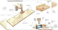 DIY Shelf Pin Jig - Woodworking Tips and Techniques | WoodArchivist.com