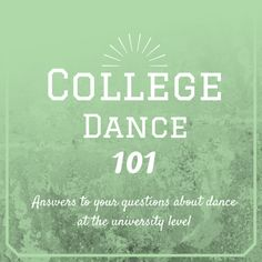 So you want to dance in college? Let your higher education begin with help and advice on choosing a university dance program, auditioning for the department, life after graduation, and more for aspiring dance majors. Teach Dance, Learn To Dance, Dance Tips, Dance Lessons, Dance Teacher, Dance Class, Dance Department, Dancer Workout
