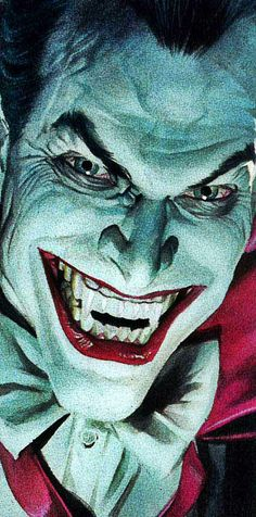 ©Alex Ross Haha this Joker kinda look like Damon from Vampire Diaries... just sayin'