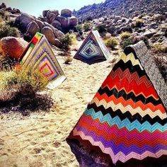 Glamping Tent - South Korea-based company 'Archiworkshop' created a glamping tent collection designed to enhance the act of camping into a luxurious re. Yarn Bombing, Guerilla Knitting, Picnic Blanket, Outdoor Blanket, Sestri Levante, Gazebos, Urbane Kunst, Boho Home, No Rain