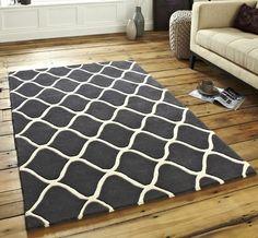 Elements EL-65 Dark Grey Rugs - buy online at Modern Rugs UK