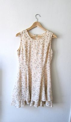 Pretty Floral Ruffle 90's Dress by asecretshop on Etsy, $42.00