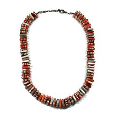 Red Mix Square Necklace  by Sobral, 35% off