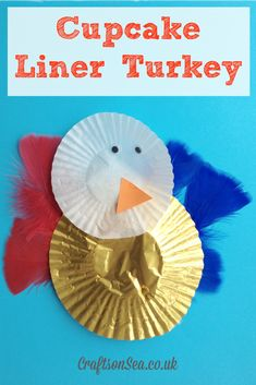 Cupcake Liner Turkey - Easy Thanksgiving activity for kids