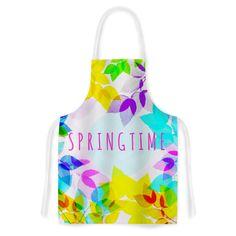 """Sreetama Ray """"Seasons Springtime"""" Rainbow Leaves Artistic Apron"""