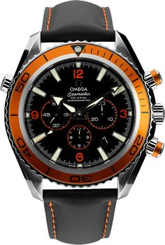 Omega Seamaster Planet Ocean - Swiss Watches | Raddest Men's Fashion Looks On The Internet: http://www.raddestlooks.org #Omegaseamaster #menswatchesomega