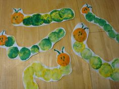 Balloon Print Caterpillar (and lots of other paint projects including handprint and footprint crafts)