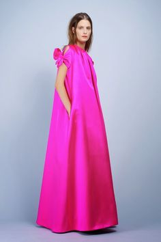 Paule Ka Spring 2014 Schiaparelli Hot Pink Full-Length Cape