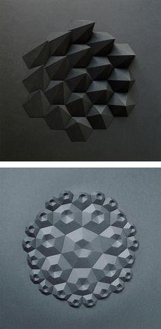 Folded Paper Sculptures by Matt Shlian | Inspiration Grid | Design Inspiration