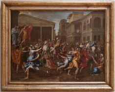 Nicolas POUSSIN - L'Enlèvement des Sabines vers 1637-1638   Musée du Louvre   Paris