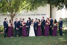 The excited wedding party after the I Do's! | Anika London Photography