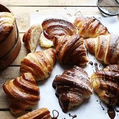 French Croissant, Breakfast Croissant, Breakfast Pizza, French Toast, Breakfast Ideas, Nutella Croissant, Breakfast Dessert, Breakfast Recipes, Vegetarian Recipes