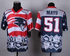 2d3534d6a Nike Patriots 51 Jerod Mayo Navy Blue Men Stitched NFL Elite Noble Fashion jersey  New Patriots