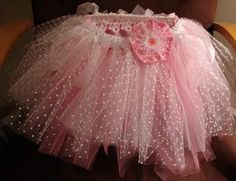 This Tutu made me think of how cute this would look as a baby girls bassinet skirt!