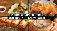 (part 2) Game Changing recipes using Rice Paper Wrapper in a crazy way. How to make cheats on Fried Chicken, Egg rolls, Dim sum, Apple cinnamon pies, Italian...