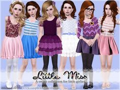 Little Miss dresses set by Sim-pli Caz - Sims 3 Downloads CC Caboodle