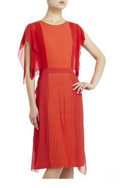 Orange Colorblock Runway Caterina Dress | BCBG Georgeous $120