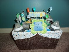 Baby Boy Basket (front view)