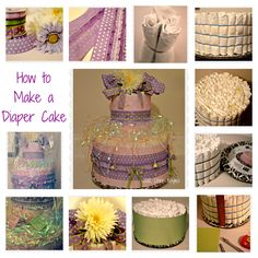 How to make my version of a Baby Shower Diaper Cake - step by step with pictures. #DiaperCake  #BabyShower #ChrisBoyles