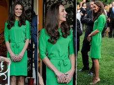The Duchess is wearing DVF #green