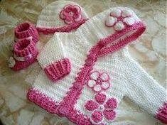 """Résultat de recherche d'images pour """"veste bébé fille crochet"""""""