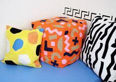 Orange Objects Pouf