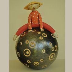 Anne Klocko Ceramic Sculpture On Top