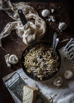 Complexity in the Kitchen - Hortus Natural Cooking - Natural, Vegetarian, Italian Food Yummy Pasta Recipes, Fun Easy Recipes, Yummy Food, Truffle Pasta, Homemade Truffles, Think Food, Vegan, Linguine, Italian Recipes