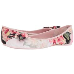 6c06035fa9644e Ted Baker Immep (Painted Posie Textile) Women s Shoes ( 115) ❤ liked on. Bow  ShoesBow FlatsBallerina ...