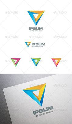 Triangle Pyramid Logo Abstract: Abstract Logo Design Template created by sellingpix. Logo Design Template, Logo Templates, Internet Logo, Triangle Logo, Visual Identity, Brand Identity, Financial Logo, Abstract Logo, Describe Yourself
