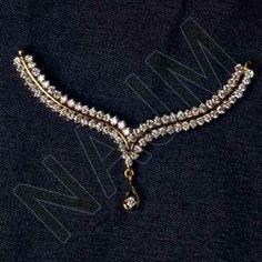 Diamond Mangalsutra in Jaipur, Rajasthan, India, Heere Ka . Gold Jhumka Earrings, Jewelry Design Earrings, Necklace Designs, Gold Jewellery, Indian Wedding Jewelry, Indian Jewelry, Bridal Jewelry, Diamond Mangalsutra, Gold Mangalsutra Designs