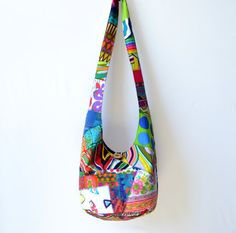 Patchwork Crazy Quilt Hobo Bag Boho Bag Sling Bag by 2LeftHandz, $35.00