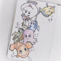 Add a sparkle of childhood magic to your Bullet Journal with these 69 beautiful Disney Inspired Bullet Journal Layouts. Plus get a free printable set of Disney stickers. Bullet Journal Disney, Bullet Journal Tracker, Bullet Journal Books, Bullet Journal Spread, Bullet Journal Ideas Pages, Bullet Journal Layout, Bullet Journal Inspiration, Disney Drawings, Cute Drawings