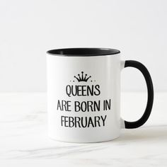 Queen Are Born In February T Shirt