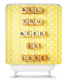 Take a look at this 'All You Need Is Love' Shower Curtain by DENY Designs on #zulily today!