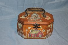 #vintage, #decoupage, #purse, Vintage 1970's Decoupage Purse, D141 by woodhut on Etsy