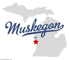 Image detail for -Map of Muskegon Michigan MI