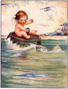 Tom Asks About the Water Babies - The Water Babies by Charles Kingsley, 1915
