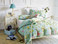 Tonos que imprimen frescura: Cómo decorar un #dormitorio en verde y azul