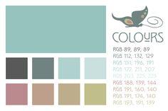 Art Deco Color Palette The wonderful art nouveau font