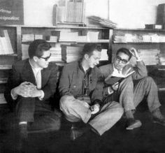 José Emilio Pacheco, Sergio Pitol y Carlos Monsiváis.