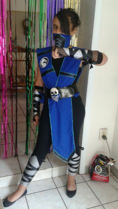 "SubZero Costume made for my Daughter.. ""Nancy's Costume Bash 2015"""