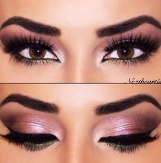 Smoky pink eye makeup