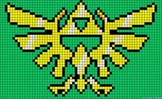 Triforce Legend of Zelda perler bead pattern Perler Beads, Perler Bead Art, Beaded Cross Stitch, Cross Stitch Embroidery, Cross Stitch Patterns, Pearler Bead Patterns, Perler Patterns, Pixel Crochet, C2c Crochet