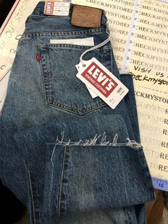 6f283ac0 NWT Levis LVC 501z 1954 Raw Hem Big E Redline Selvedge Denim W33L34 MADE  EUROPE