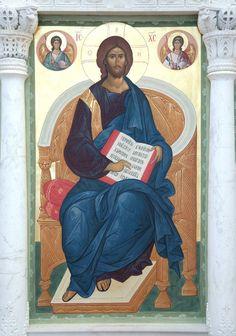 Russian icon of Christ. Religious Icons, Religious Art, Savior, Jesus Christ, Christ Pantocrator, Bhagavata Purana, Paint Icon, Queen Of Heaven, Russian Icons