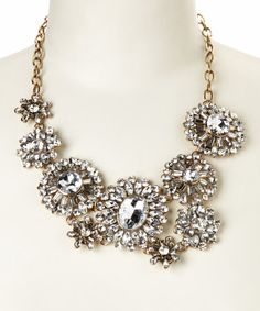 This Silver & Gold Layla Bib Necklace by Simply Reese is perfect! #zulilyfinds Think repurposed!! Mary T.