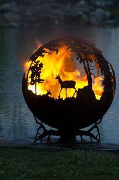 "THE FIRE PIT GALLERY Steel Sphere 36"" Fire Pits LIFETIME WARRANTY Made in USA in Home & Garden, Yard, Garden & Outdoor Living, Patio & Garden Furniture | eBay AU $2,450.00"